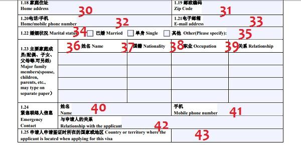 Hướng dẫn các bước điền đơn xin visa Trung Quốc chi tiết nhất 3