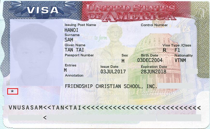 3 Dấu sao hoa thị trên Visa Mỹ có ý nghĩa gì?