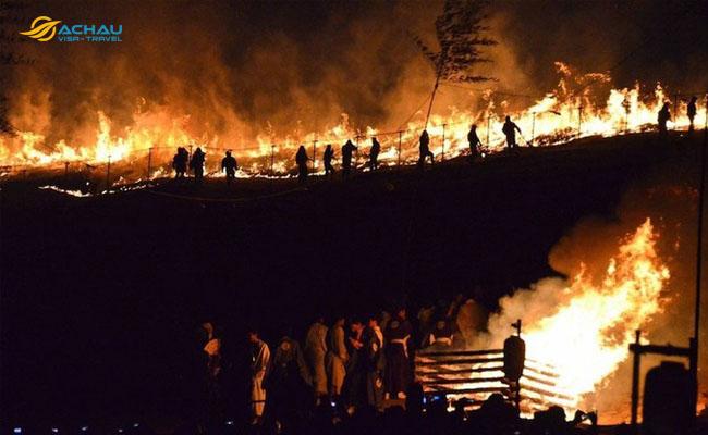 Yamayaki -  lễ hội đốt cỏ ở Nhật Bản