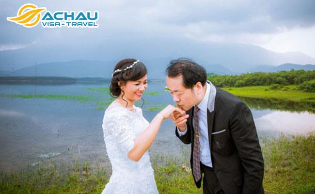 cô dâu việt nam với chồng Đài Loan