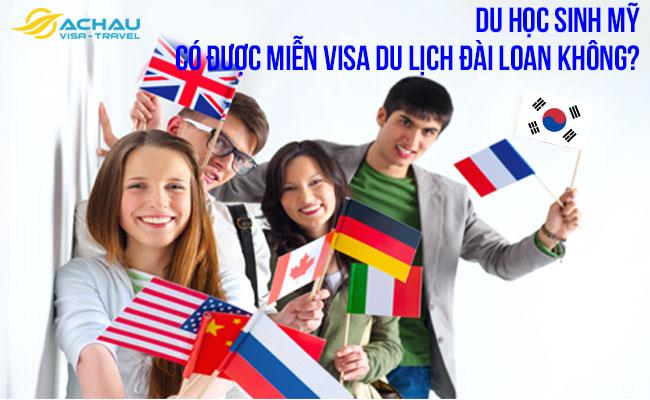 Du học sinh Mỹ có được miễn visa du lịch Đài Loan không? 1