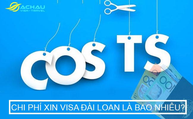 Chi phí xin visa Đài Loan
