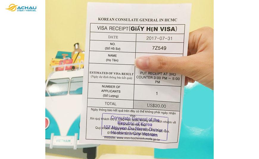 Có nhận được visa Hàn Quốc khi bị mất phiếu hẹn trả kết quả không?