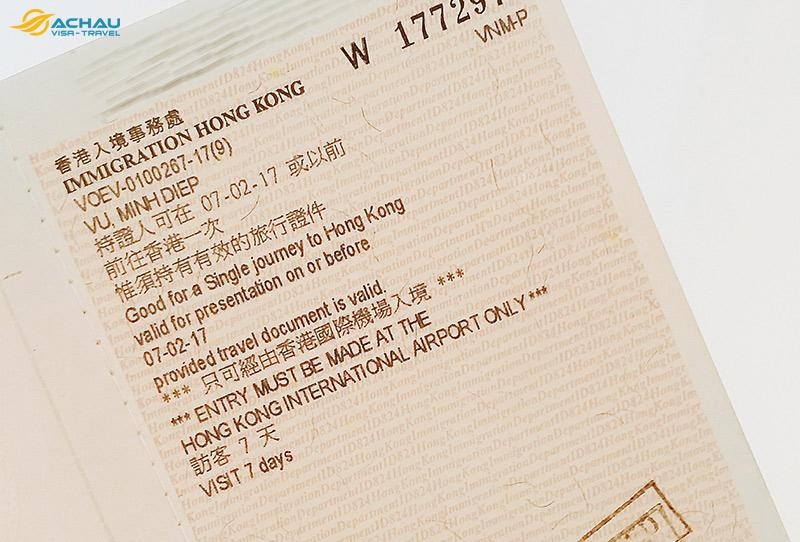 Dịch vụ xin Visa Hong Kong trọn gói 1
