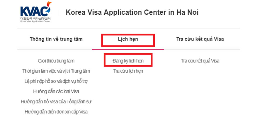 Hướng dẫn chi tiết cách đặt lịch hẹn xin Visa Hàn Quốc Online 3