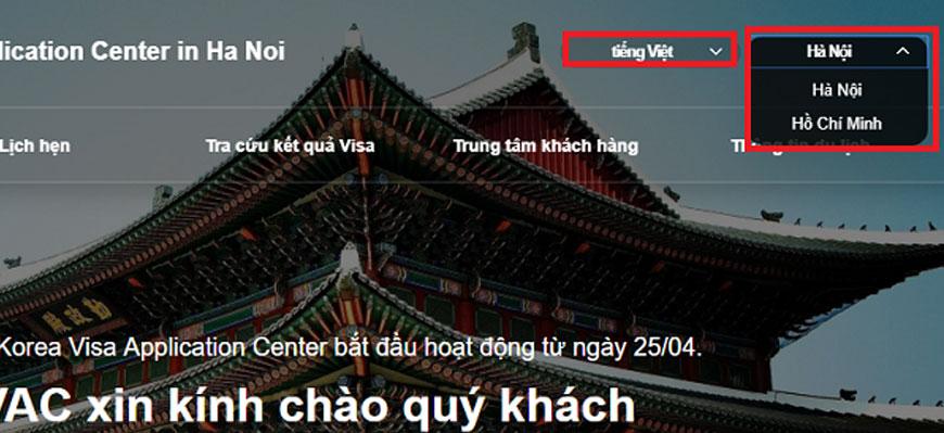 Hướng dẫn chi tiết cách đặt lịch hẹn xin Visa Hàn Quốc Online 2
