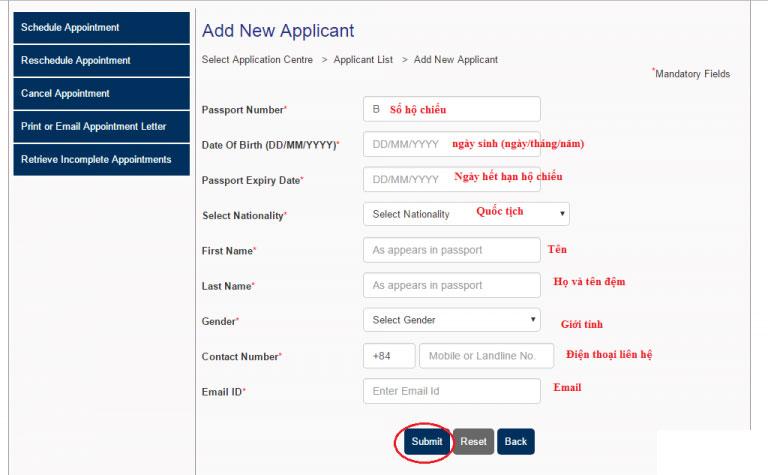 Hướng dẫn cách đặt lịch hẹn online nộp hồ sơ xin visa Úc 2