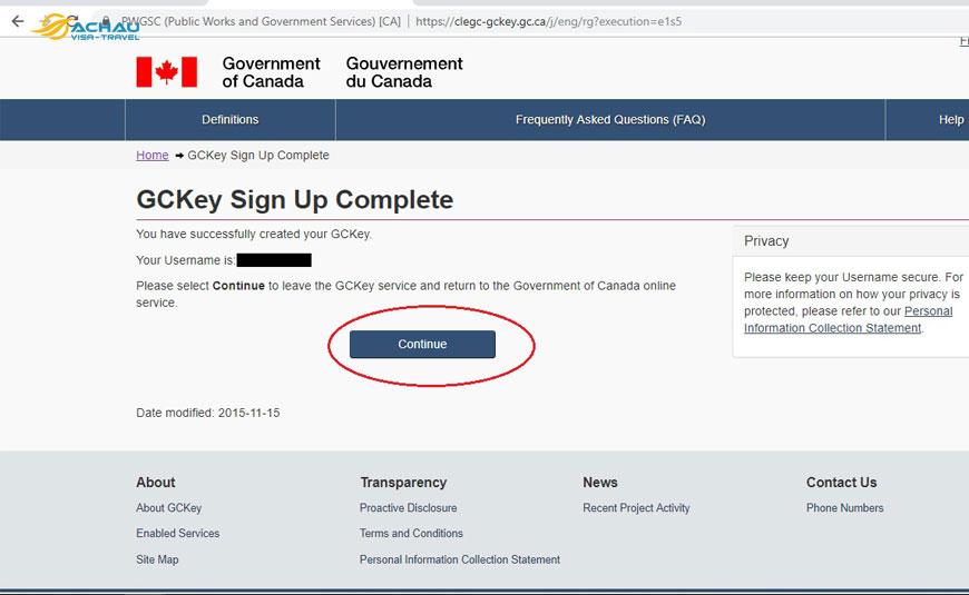 Hướng dẫn thủ tục nộp hồ sơ xin visa Canada Online 5