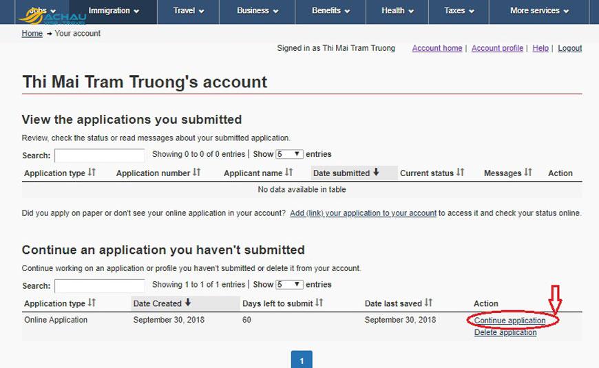 Hướng dẫn thủ tục nộp hồ sơ xin visa Canada Online 7