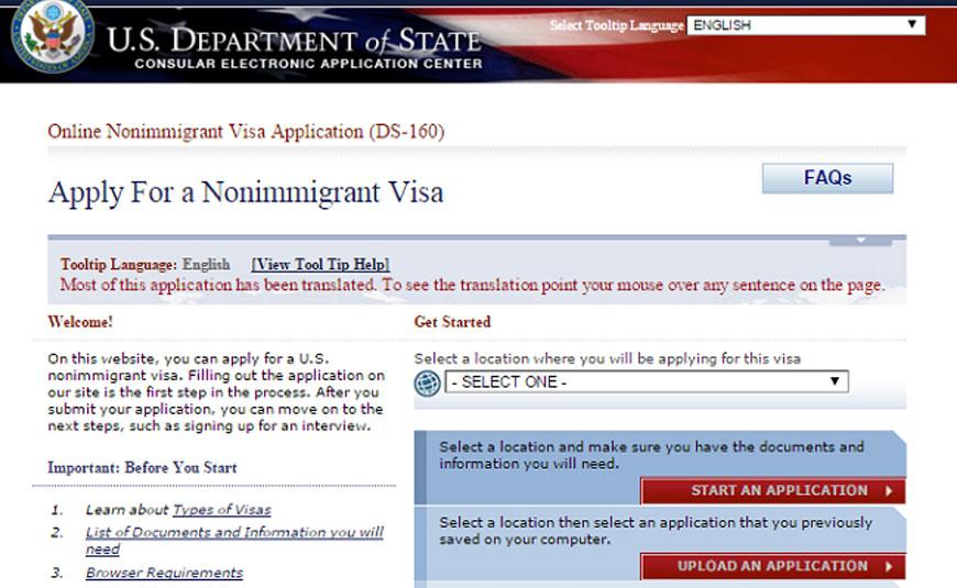 Cần lưu ý điều gì khi điền tờ khai DS-160 xin visa Mỹ?