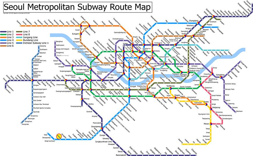 Sử dụng tàu điện ngầm ở Hàn Quốc cần lưu ý những gì?