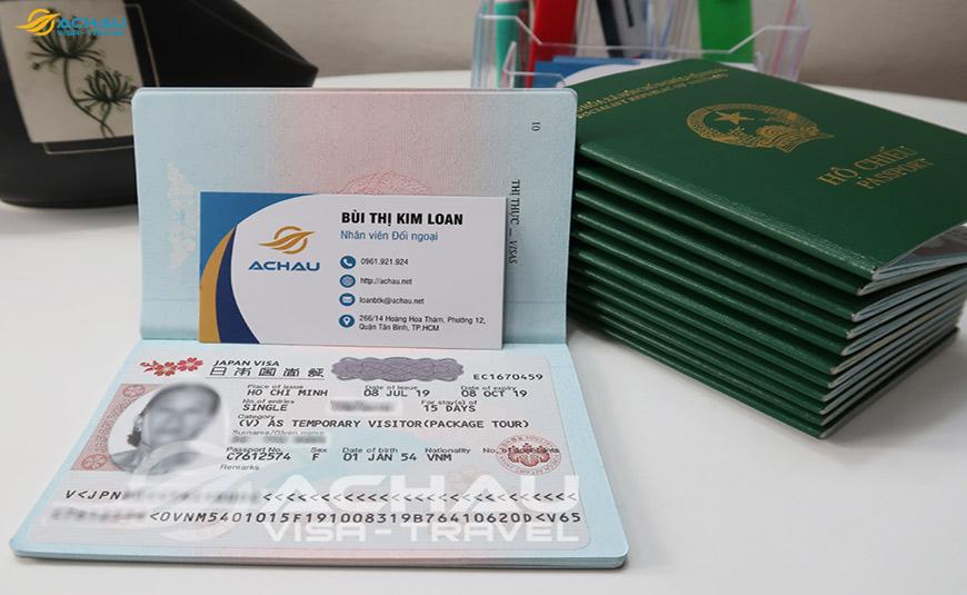 Xin Visa Nhật Bản thăm thân 2