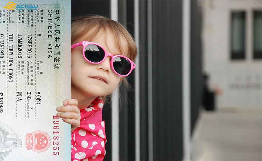 Xin Visa Trung Quốc cho trẻ em trọn gói, tỷ lệ đạu trên 99% 2